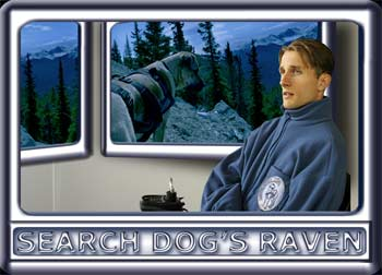 Confined to a wheelchair, Search Backup Liaison Jesse monitors the Dog's Raven Search Team.